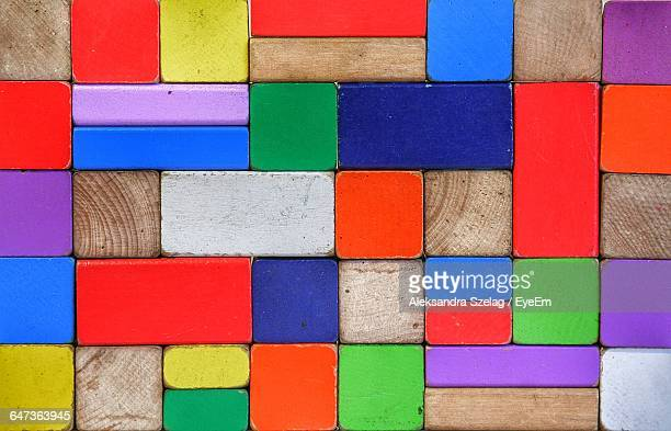 Full Frame Shot Of Colorful Wooden Blocks