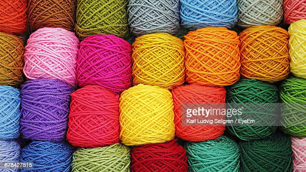 full frame shot of colorful wool balls for sale at store - wool stock pictures, royalty-free photos & images