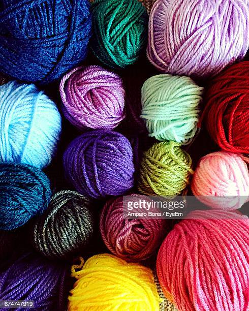 Full Frame Shot Of Colorful Wools At Home