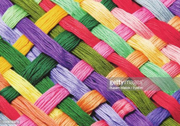 full frame shot of colorful woven wools - woven stock photos and pictures