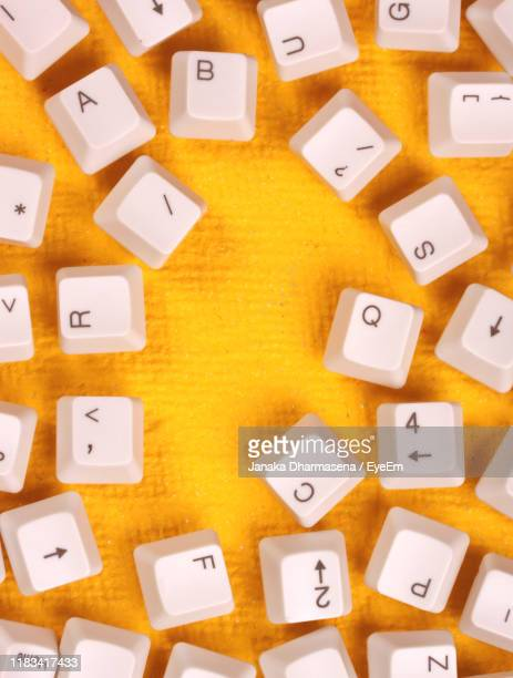full frame shot of computer keyboard - computer key stock pictures, royalty-free photos & images