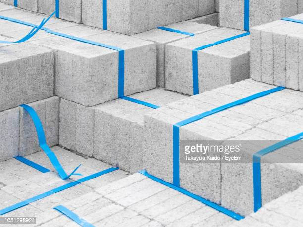 full frame shot of concrete blocks - construction material stock pictures, royalty-free photos & images