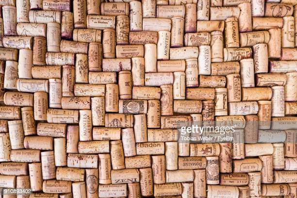 full frame shot of cork - stopper - wine cork stock photos and pictures
