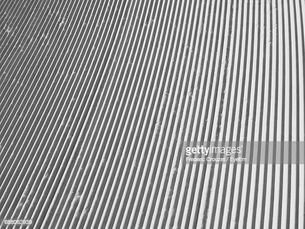Full Frame Shot Of Corrugated Iron Roof During Winter