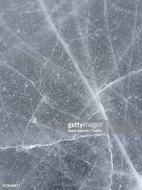 Full Frame Shot Of Cracked Ice