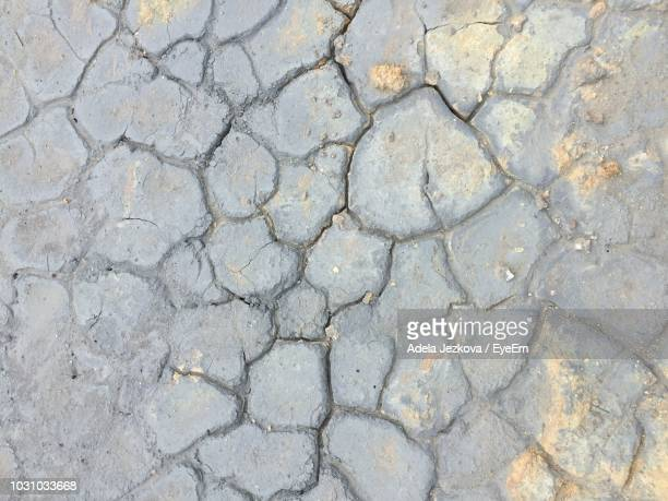 Full Frame Shot Of Cracked Road