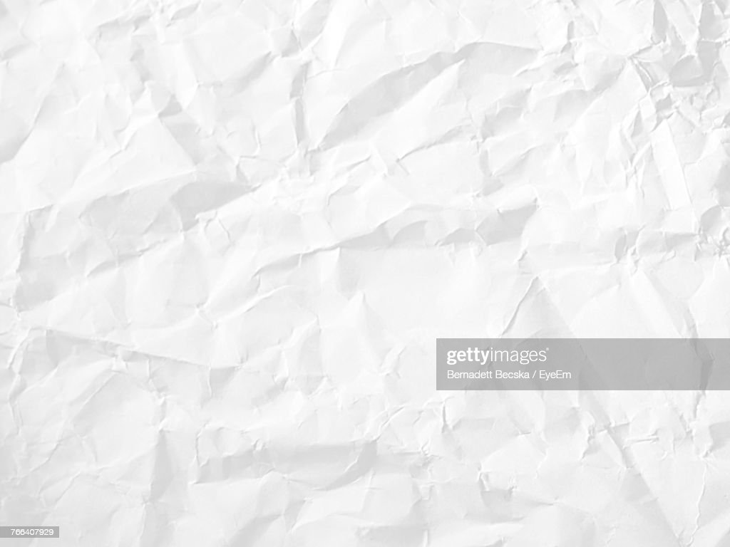 Full Frame Shot Of Crumpled Paper : Stock Photo