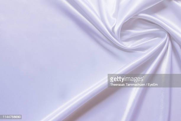 full frame shot of crumpled white satin - silk stock pictures, royalty-free photos & images