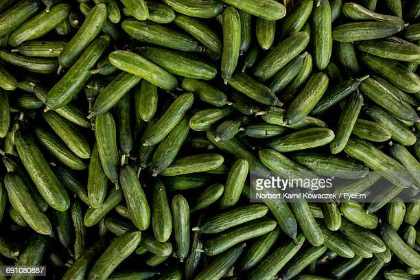 Full Frame Shot Of Cucumbers At Market
