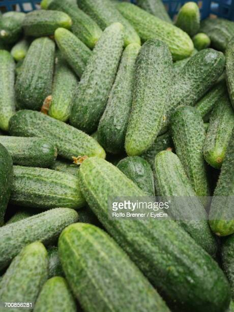 Full Frame Shot Of Cucumbers For Sale At Market
