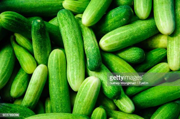full frame shot of cucumbers for sale - cucumber stock pictures, royalty-free photos & images