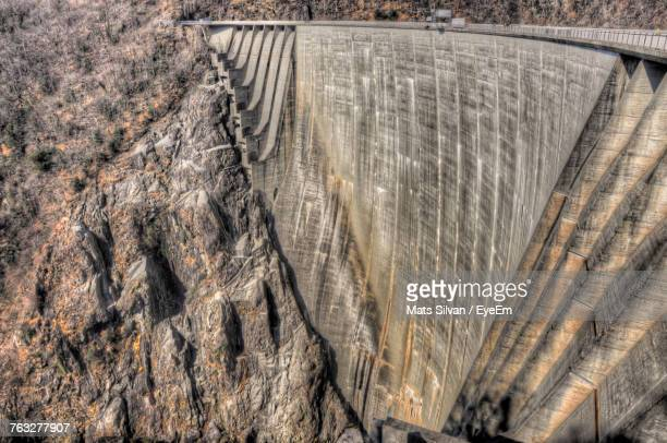full frame shot of dam - ticino canton stock pictures, royalty-free photos & images