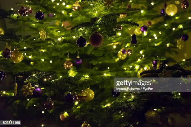 Full Frame Shot Of Decorated Christmas Tree