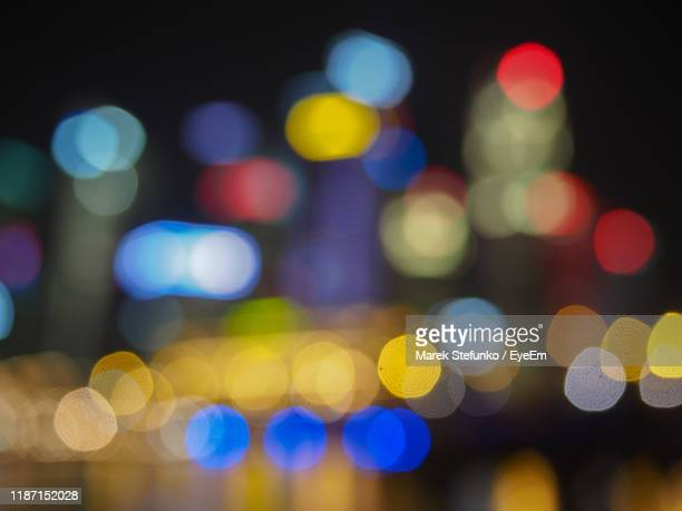 full frame shot of defocused lights - marek stefunko stock photos and pictures