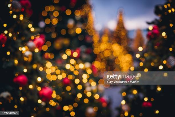 full frame shot of defocused lights - christmas tree stock pictures, royalty-free photos & images