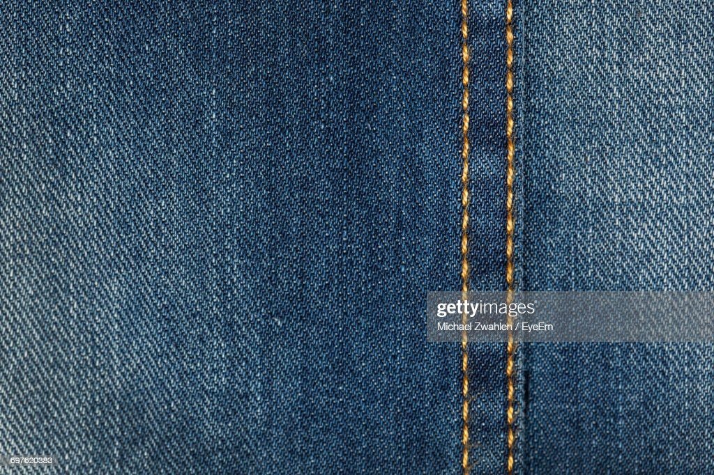Full Frame Shot Of Denim Jeans : Stock Photo