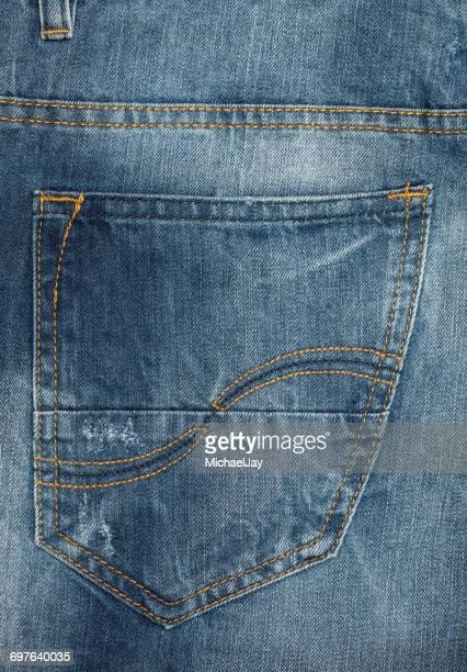 Full Frame Shot Of Denim Jeans