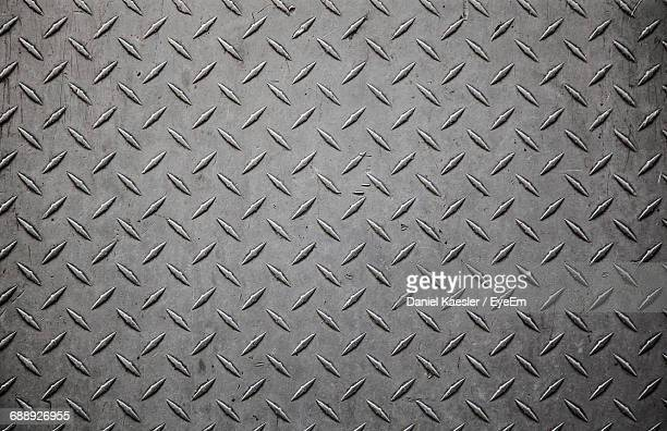 full frame shot of diamond plate - metallic stock photos and pictures