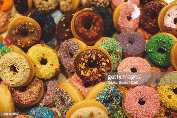 Full Frame Shot Of Donuts For Sale In Store