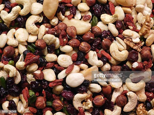 Full Frame Shot Of Dried Fruits For Sale