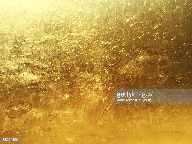 full frame shot of dried leaf - gold colored stock photos and pictures
