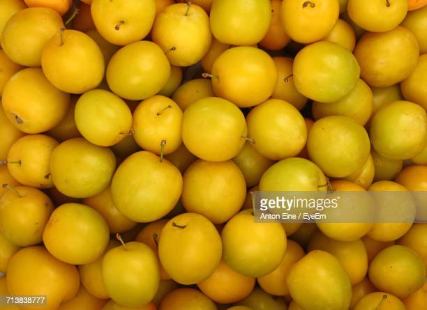 Full Frame Shot Of Dried Mirabelle Plums For Sale In Market