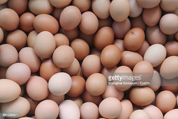 Full Frame Shot Of Eggs At Market