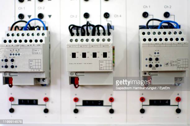full frame shot of electrical panel - electrical panel box stock pictures, royalty-free photos & images