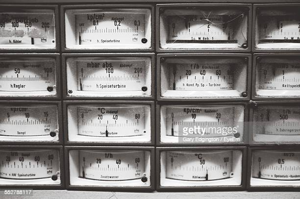 Full Frame Shot Of Electricity Meters