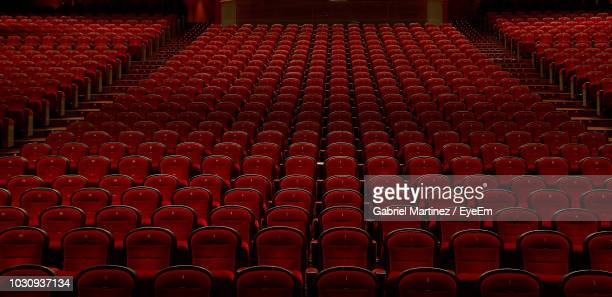 full frame shot of empty chairs - arts culture and entertainment stock pictures, royalty-free photos & images