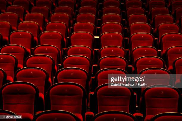 full frame shot of empty chairs - seat stock pictures, royalty-free photos & images