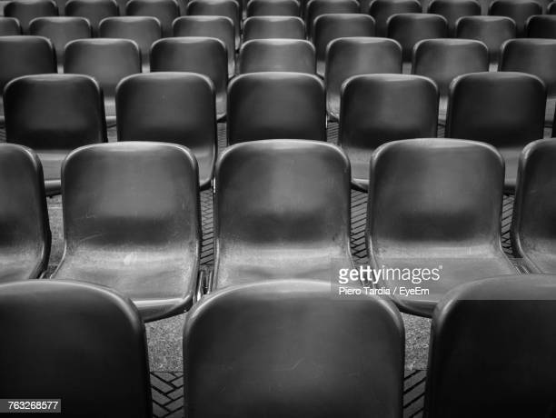Full Frame Shot Of Empty Chairs