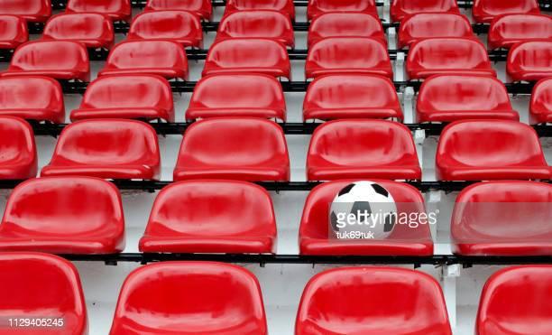 full frame shot of empty seats - absentie stockfoto's en -beelden
