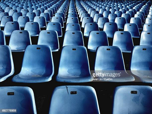 full frame shot of empty seats - seat stock pictures, royalty-free photos & images