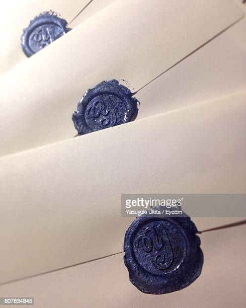 Full Frame Shot Of Envelopes