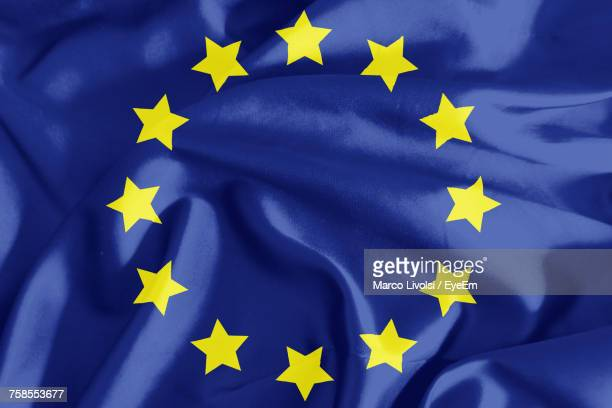 full frame shot of european union flag - european union flag stock photos and pictures