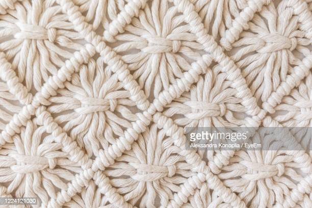 full frame shot of fabric - crochet stock pictures, royalty-free photos & images