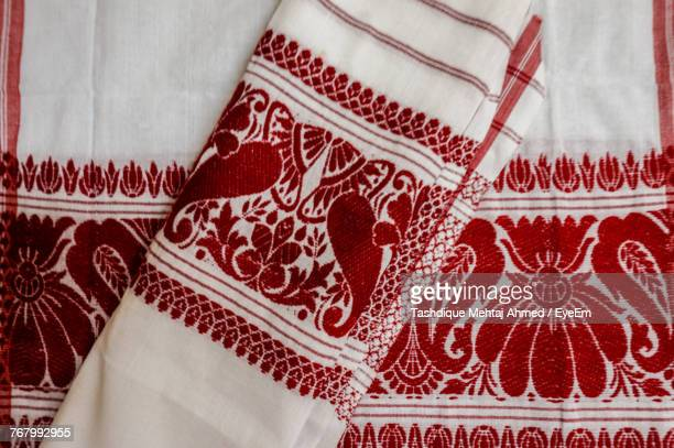 full frame shot of fabric - guwahati stock photos and pictures