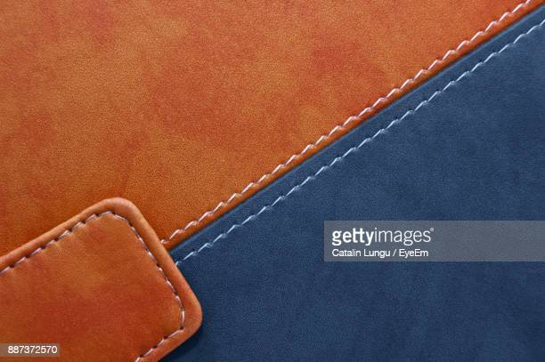full frame shot of fabric - stitching stock photos and pictures