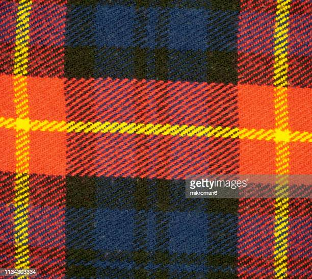 full frame shot of fabric, scottish tartan - plaid stock pictures, royalty-free photos & images