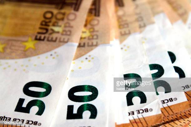 Full Frame Shot Of Fifty Euro Banknotes