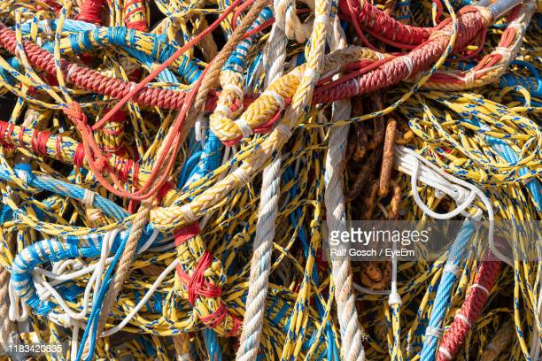 full frame shot of fishing net - trouville sur mer stock pictures, royalty-free photos & images
