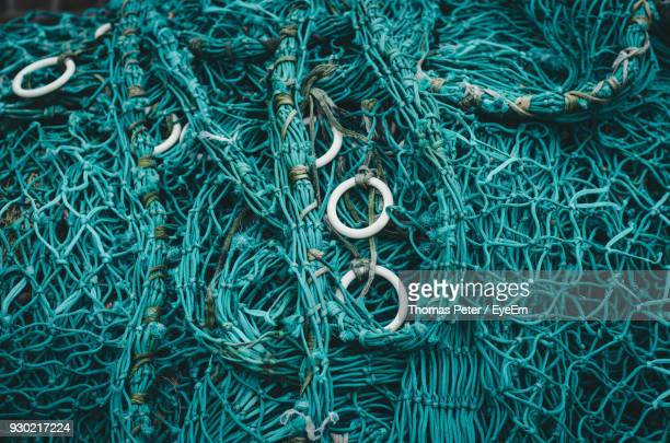 full frame shot of fishing net - fehmarn stock pictures, royalty-free photos & images