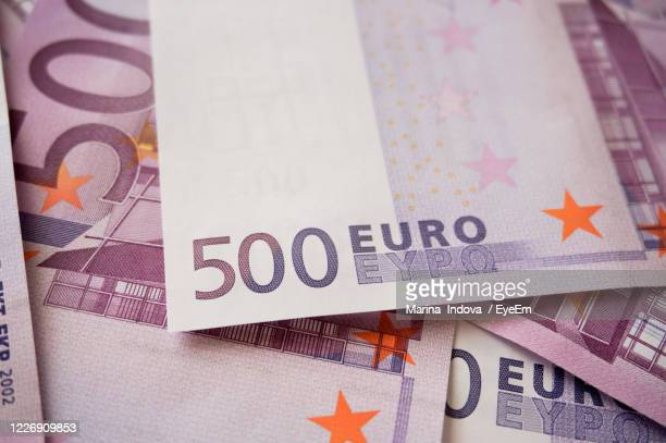 full frame shot of five hundred euro banknote - number 500 stock pictures, royalty-free photos & images