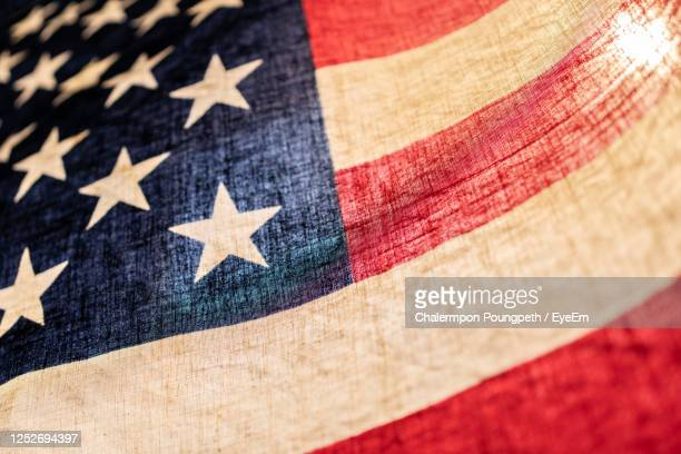 full frame shot of flag - stars and stripes stock pictures, royalty-free photos & images