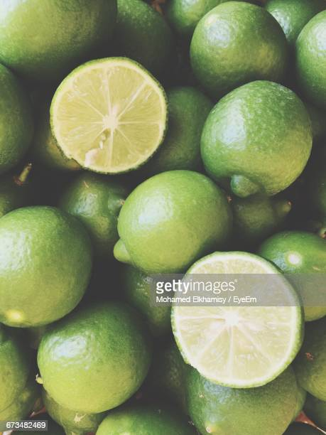 Full Frame Shot Of Fresh Green Lemons