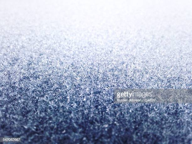 Full Frame Shot Of Frozen Car Roof