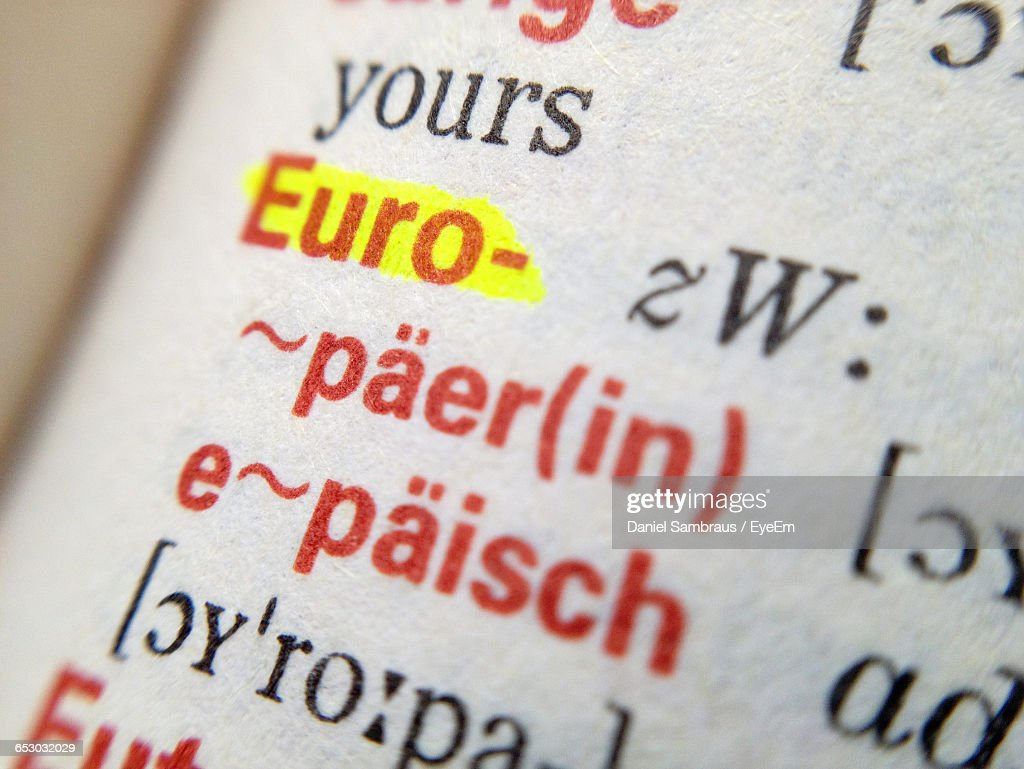 Full Frame Shot Of German Dictionary Stock Photo | Getty Images