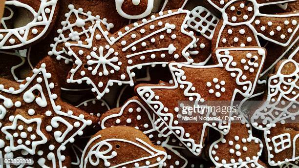 Full Frame Shot Of Gingerbread Cookies