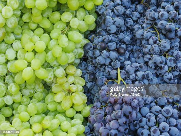 Full Frame Shot Of Grapes For Sale At Market Stall